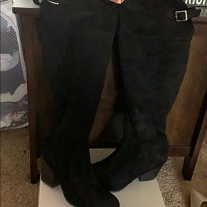 Over the knee black boots. Worn twice